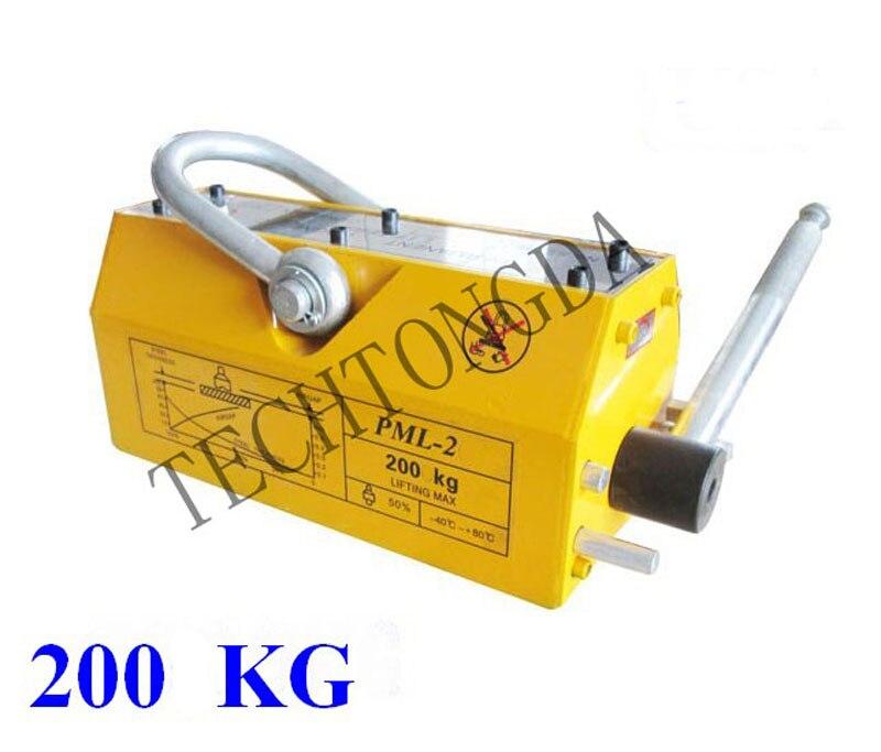 200 KG Steel Magnetic Lifter Heavy Duty Crane Hoist Lifting Magnet Tool