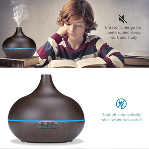 Image 4 - 400 ml USB aroma oil diffuser wood electric humidifier ultrasonic air humidifier aromatherapy LED light mist maker for home