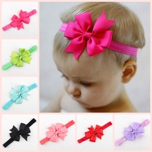 Ribbon-Bow Headband Hair-Accessories Photo-Props Bowknot Baby-Girls Children Yundfly