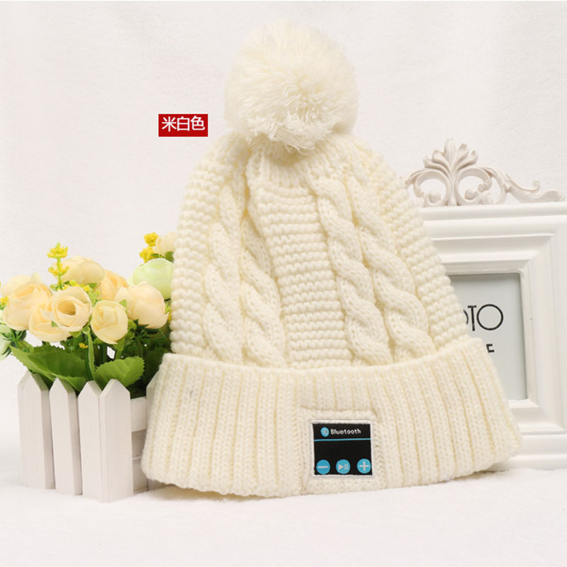 CALION wm2 Women Girls Gift Christmas Hat Built In Bluetooth Earphones Knitted Winter Caps Wireless Headphones Cap For Phones