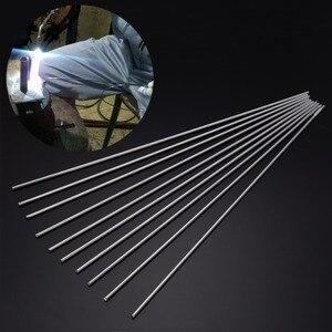 10 шт., металлический алюминиевый магниевый сварочный стержень, низкотемпературные Серебристые сварочные палочки 2 мм x 450 мм