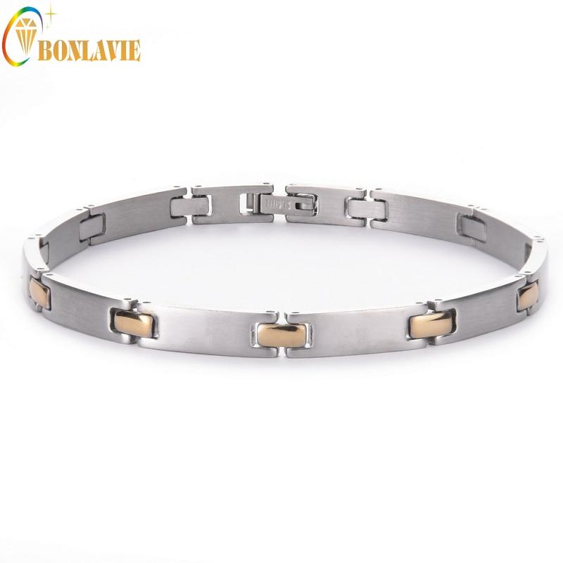 2017 Men Bracelets Silver Plated Stainless Steel Punk Metal Charm Wristband Bangle Bracelet