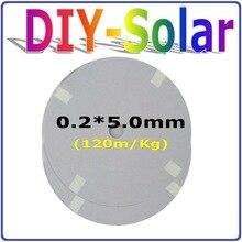 0.2*5.0mm Solar Cells Panel Busbar Wire/PV Ribbon 394feet, Solar Cells Soldering Tab Wire Net Weight 120m/Kg