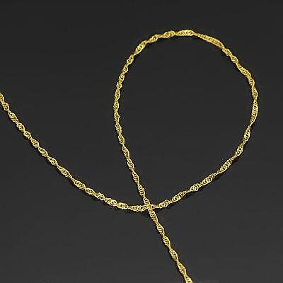 AU750 Puro Multa 18 k Oro Giallo 1mm W Singapore Catena Della Collana/1.1g/15.7 pollice-in Collane da Gioielli e accessori su  Gruppo 2