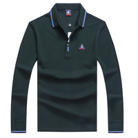 polo men Tace&shark Billionaire long sleeve polo men 2018 mens polo shirt cotton Brands lapel Breathable high quality size M~3XL