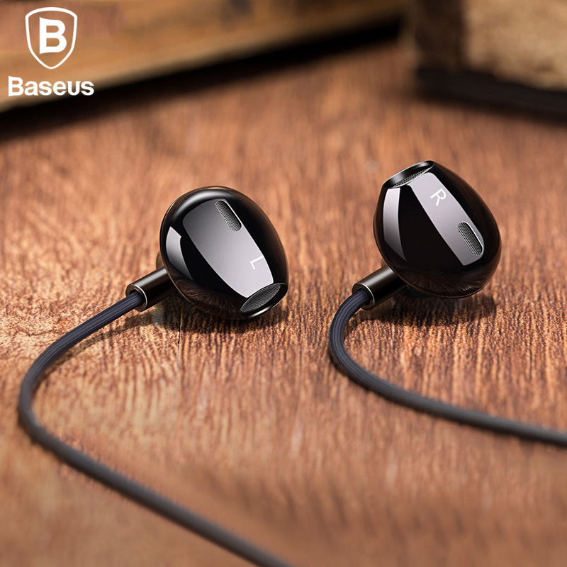 Baseus H06 In-ear Stereo Bass Earphones Headphones 3.5mm jack wired control HiFi Earbuds Headset for iPhone Xiaomi Mobile Phone 3 5mm in ear bass headset v moda headphones hifi earbuds mobile earphones for apple samsung htc sony