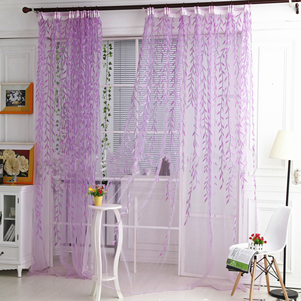 High Window Curtains: 2018 New Arrival Fashion Willow Voile Tulle Curtain Thread