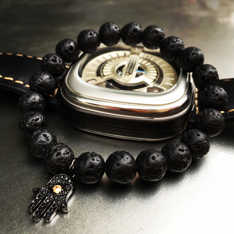 Mcllroy Beaded Bracelet Luxury Mens Bracelets Volcanic Rocks Stone ...