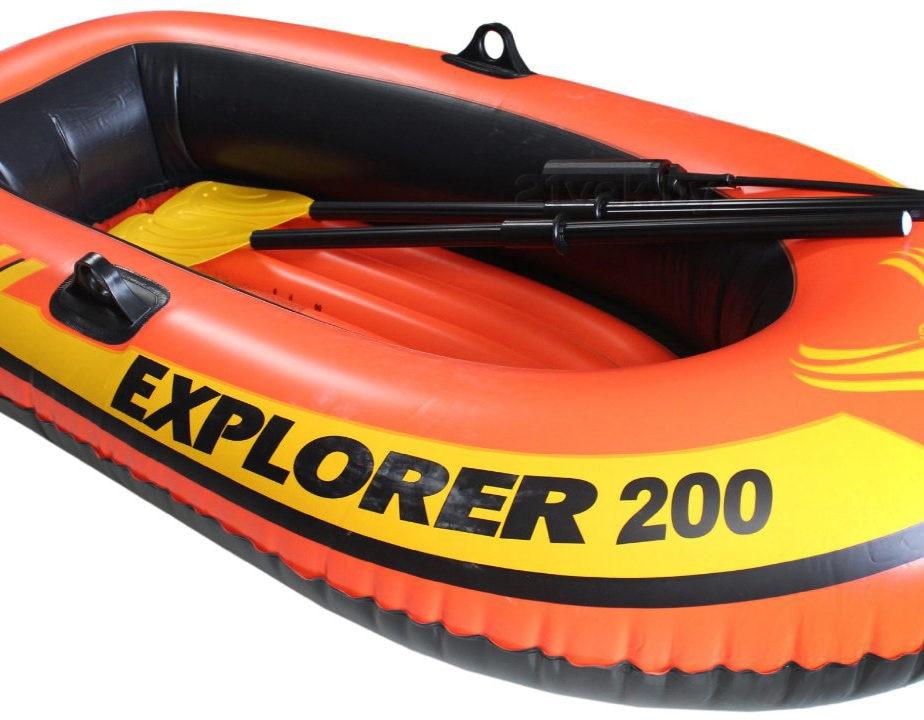 Intex Explorer 200, 2-osobowy zestaw dmuchanych łodzi z wiosłami - Sporty wodne - Zdjęcie 6
