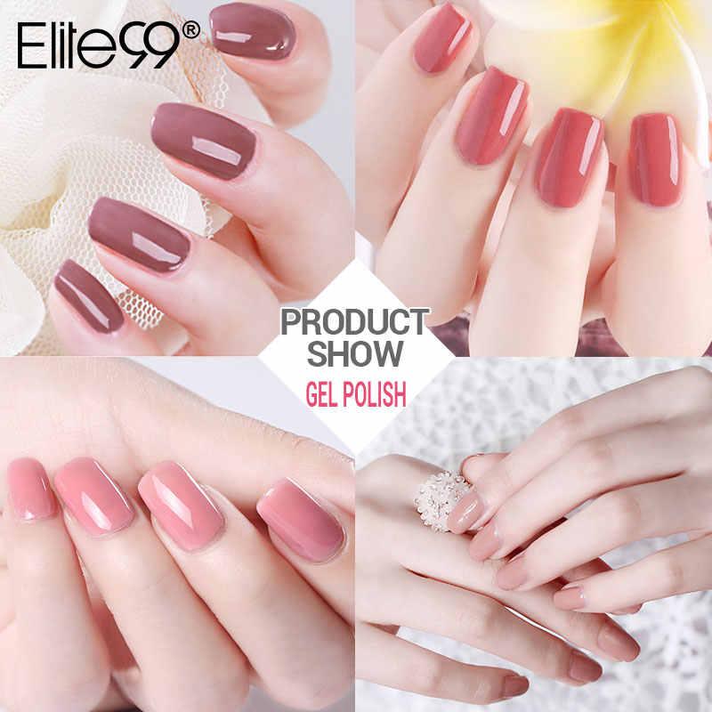 Elite99 Glitter Uv Gel Nail Polish Set Nude Warna Seri LED Nail Gel Varnish Semi Permanen Nail Lacquer Payet Gel nail Art