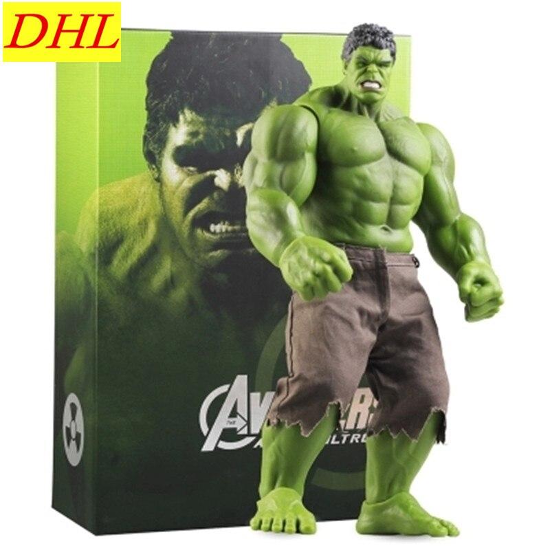 42.5CM Hot ! Avengers:Infinity War Incredible Hulk Superhero Scientist Bruce Banner PVC Action Figure Model Toy L508 bruce banner hulk the junior novel