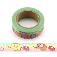 1pc cute elephant Decorative animal Washi Tapes Paper DIY Scrapbooking Adhesive Masking Tapes 10m School Office Supply