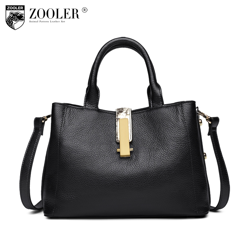 ZOOLER Genuine Leather Tote Bags Handbags Women Famous Brands 2017 New Winter Female Casual Cowhide Shoulder Bag Sac A Main