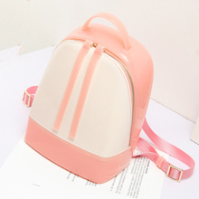 2017 Summer Silicone Sweet Candy Color Women Beach Backpacks Zipper Travel Bags mochila escola Rucksack Hand Bag Shoulder Bag