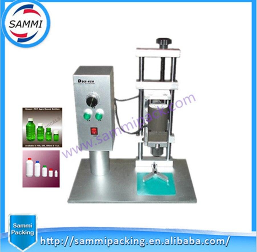 Good price cap diamater 10-50mm DDX-450 desktop plastic bottle cap packing machine for water small bottle filling machine