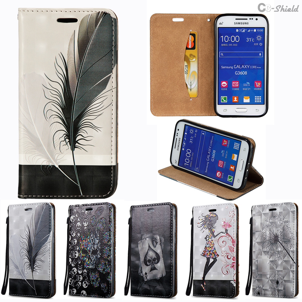 Painting Case For Samsung Galaxy Core Prime G360 G361 SM-G360F SM-G361F SM-G360H SM-G361H SM-G360P Flip Phone Leather Cover para