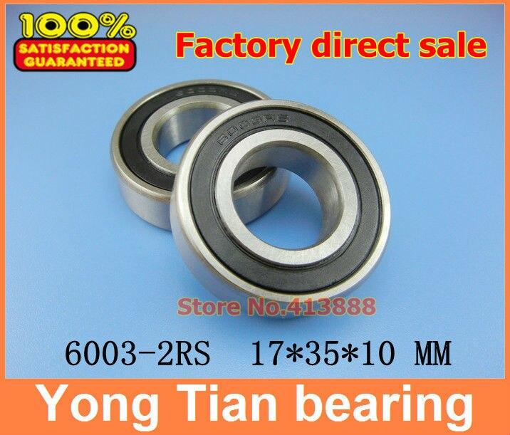(1 Stücke) Hohe Qualität Rillenkugellager Doppelgummidichtung Abdeckung 6003-2rs 17*35*10mm Attraktive Designs;