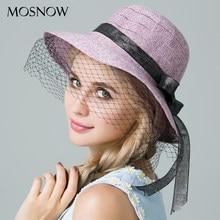MOSNOW 2018 nueva moda Casual verano de las mujeres sombreros elegante  decoración paja femenina sombrero Chapeu 4032ae9bb13