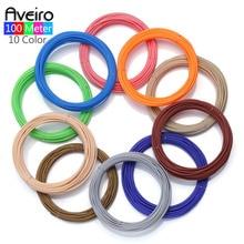 New Arrival 3D Pen Filament PLA 1.75mm 100 Meter 10 Color Plastic Rubber Printing Material For 3D Printer Pen Filaments