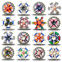 Hand Colorful Metal Zinc Alloy Fidget Spinner For Children Adult Gifts Tri Spinner Fidget Toy