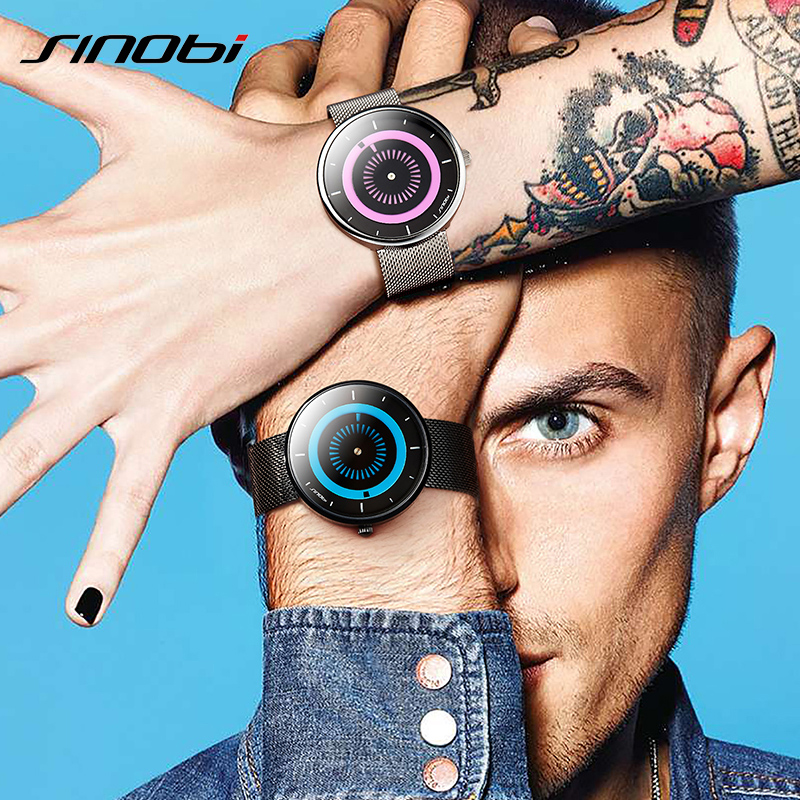 SINOBI 6.8 MM Ultra thin Creative Mens Watches Top Brand Luxury Reloj Hombre 2018 Quartz Sport Watch Men Clock Relogio Masculino