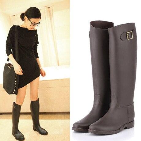 98b7771b9908 New Nice High Style Fashion Women Rain Boots Waterproof Wellies Boots 1  Colors rainboots