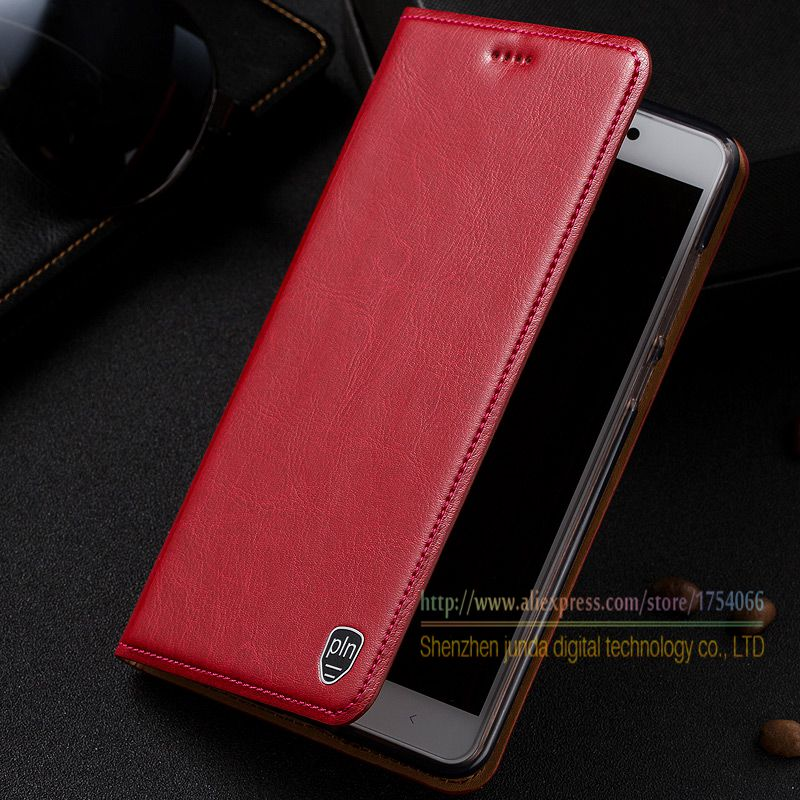 Retro Genuine Leather Flip Stand Case For Xiaomi Redmi Note 4X Note4x 5 5 Luxury Leather
