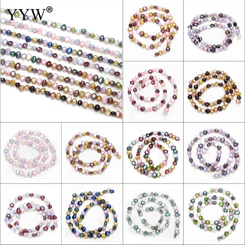 Pearl Beads for Jewelry Making Natural Cultured Freshwater Pearl Beads DIY Jewelry Designer Findings Mixed Color Pearl Beads