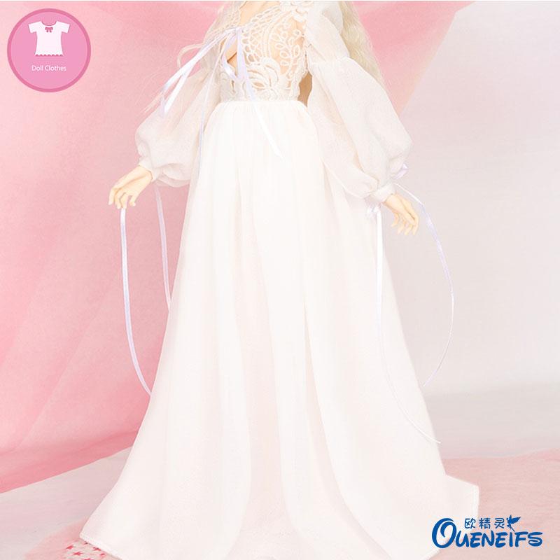 BJD Clothes 1/4 Princess Dress Wedding Evening Dress Maxiskit Chiffon For Dollshe Girl Body YF4-186 Doll Accessories