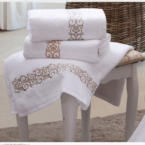 √Toalla de baño grande 140*80 cm XL algodón orgánico bordado playa ...
