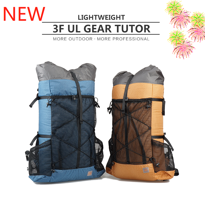 3F UL GEAR TUTOR26 38L UHMWPE Nylon 30D Cordura Ultralight Waterproof Outdoor Climbing Bag Frameless Backpack