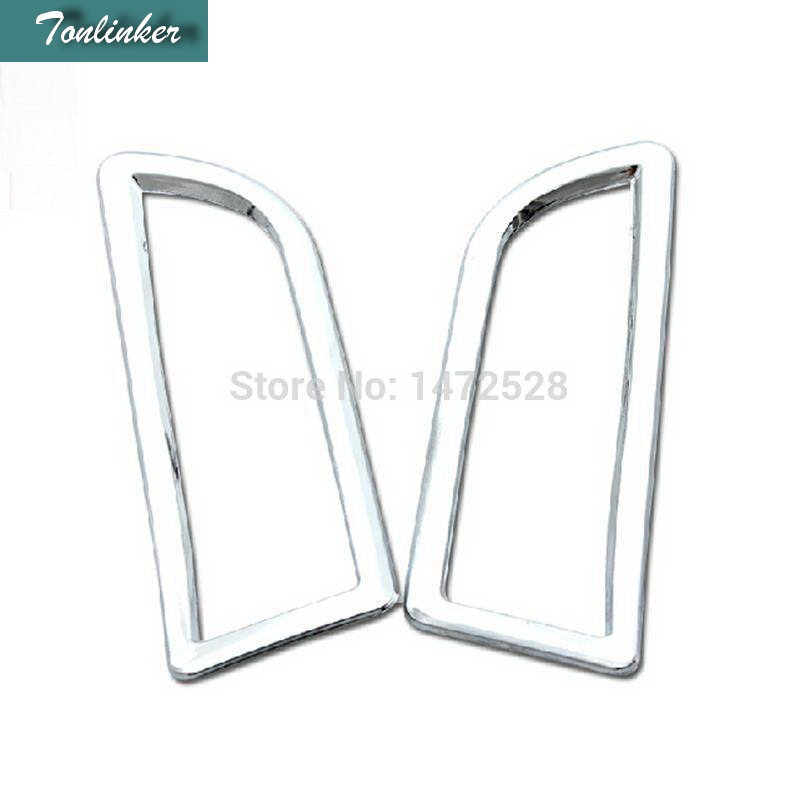 c702978c09e Tonlinker 2 PCS Car styling ABS chrome or stainless steel A column outlet  decorative Stickers for Ford MENDEO 2013 accessories