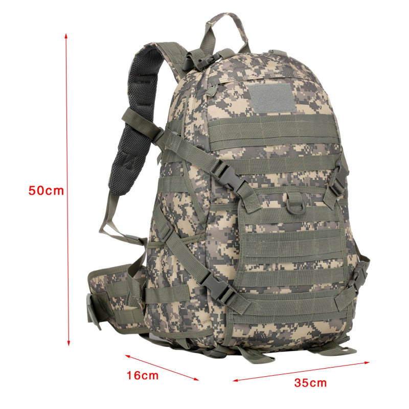Portable Men Military Backpack Molle Camouflage Travel Bags 40L Waterproof Nylon Bags Multi-function Laptop Backpack