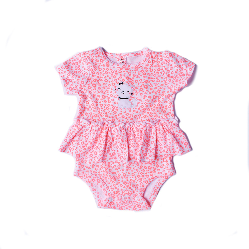 Baby clothes 2018 girls rompers cotton short sleeve jumpersuit for girls clothing dot newborn romper roupas de bebe