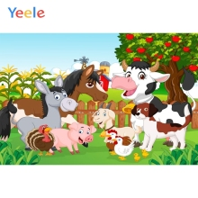 Yeele Cartoon Farm Animal Photography Backgrounds Baby Shower Birthday Party Custom Photographic Backdrops For Photo Studio