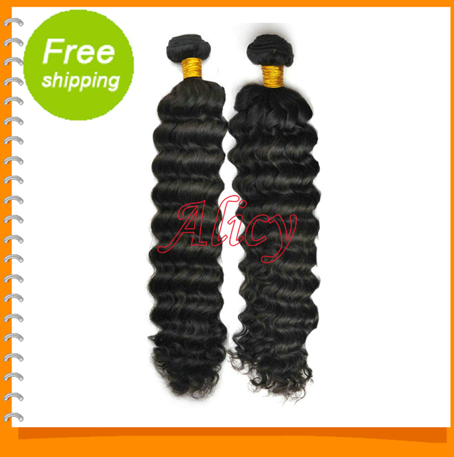 2pcs/lot 100% Virgin Malaysian Deep Wave Hair Bundle Extension,thick and full end,Unprocessed Virgin Hair,can be dyed or permed.