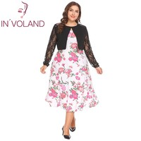 IN VOLAND Plus Size L 4XL Women Lace Bolero Shrug Spring Autumn Large Cardigan Long Sleeve