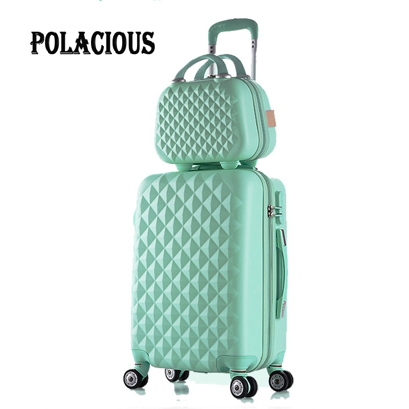 28+12Hot sales Diamond lines Trolley suitcase set/travell case luggage/Pull Rod trunk rolling spinner wheels/ ABS boarding bag 20 inch high quality trolley suitcase luggage travel case pull rod trunk rolling spinner wheels abs pc boarding box cosmetic bag