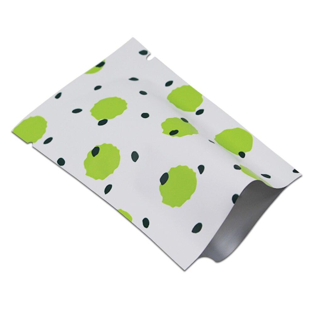 DHL 3 couleurs points ouverts Top pur papier d'aluminium sac d'emballage thermoscellage pour bonbons collation sous vide emballage de stockage des aliments Mylar sacs de poche