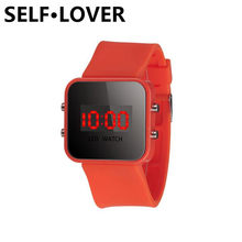 SELFLOVER Wrist Watch for Boy Girls Kids 10 Colors Luxury Brand Silicone Led Digital Watches Relogio Sport Clock Gift(China)