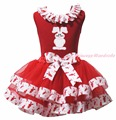 Easter Rose Bunny Rabbit Egg Train Minnie Red Top Shirt Rabbit Satin Trim Skirt Girls Pettiskirt Outfit NB-8Y