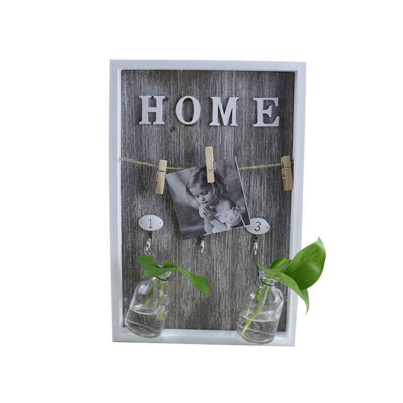 Modern Wooden Multi-purpose Green Plant Hydroponic Ornaments Desk Plant Hydroponic Vase Miniature Home Decor Accessories Gifts