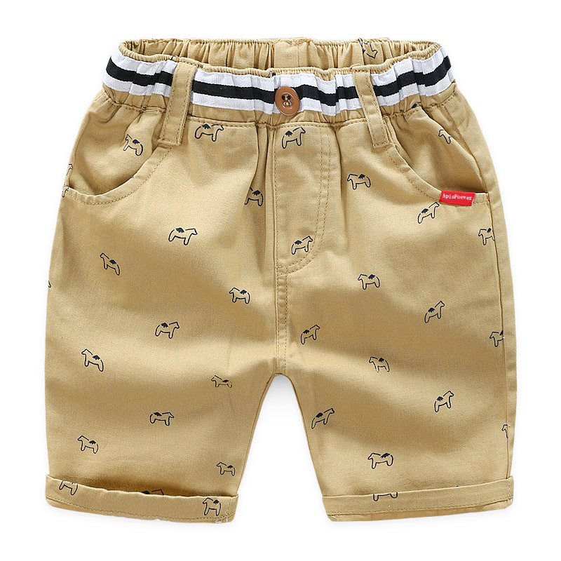 Summer Boys Cotton Casual Shorts Children Fashion Solid Shorts Soft Formal Short Trousers