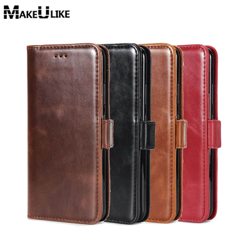 MAKEULIKE Flip Wallet Case For iPhone 7 Plus Cover Case Luxury Oil PU Leather Phone Bags Cases For iPhone 7 Plus 5.5 inch Pouch
