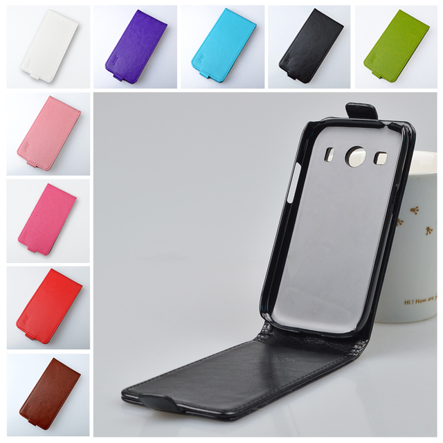 Luxury Retro PU Leather Case For Samsung Galaxy ace 4 G357 G357FZ SM-G357FZ Cover Flip Open Up And Down J&R Brand