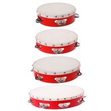 Тамбурин барабан ручной Колокольчик ударный бубен s колокольчики Jingles музыкальная игрушка