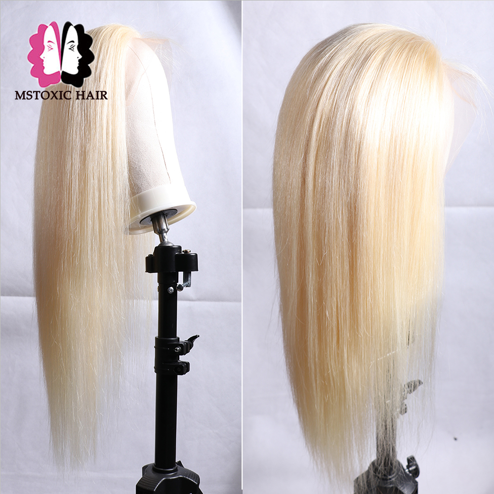 Mstoxic 613 Lace Front Wig Blonde Brazilian Straight Lace Front Human Hair Wigs For Black Women