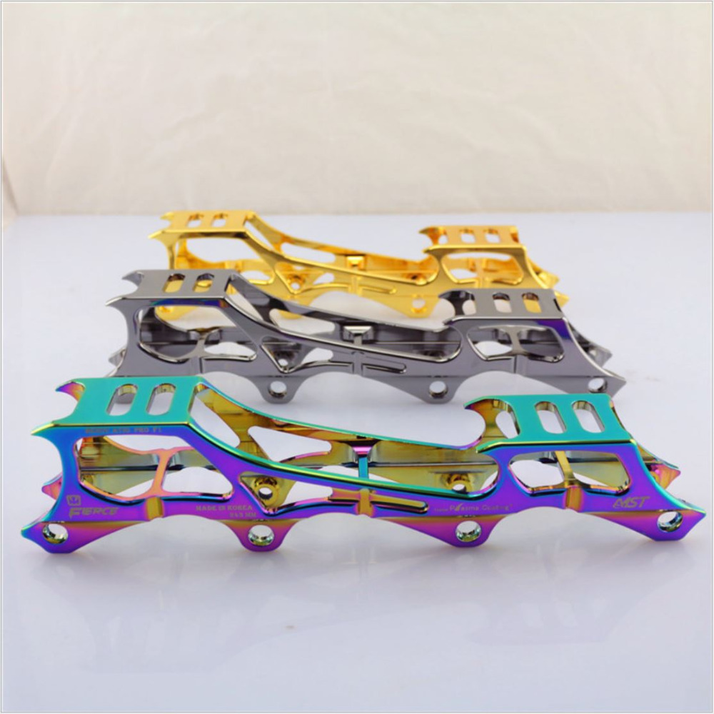 Prix pour Qualité Rockered 7075 En Aluminium patin à roulettes en ligne CADRE 231 & 243mm patins inline lame Slalom skate chaussures racks FSK skate titulaire