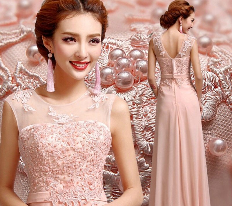 5708645fe901c Pretty Floor Length Cheap 2018 New hot Long Chiffon Bridesmaid Dresses A  Line Formal Party Ball Gown Prom Dress Free shipping-in Bridesmaid Dresses  from ...