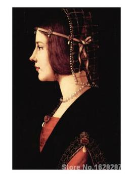Paintings for living room wall Lady Beatrice D Este Leonardo Da Vinci High quality Hand painted